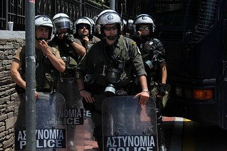 Heavy riot police presence around  ERT studio in Thessaloniki, Greece | by Teacher Dude's BBQ