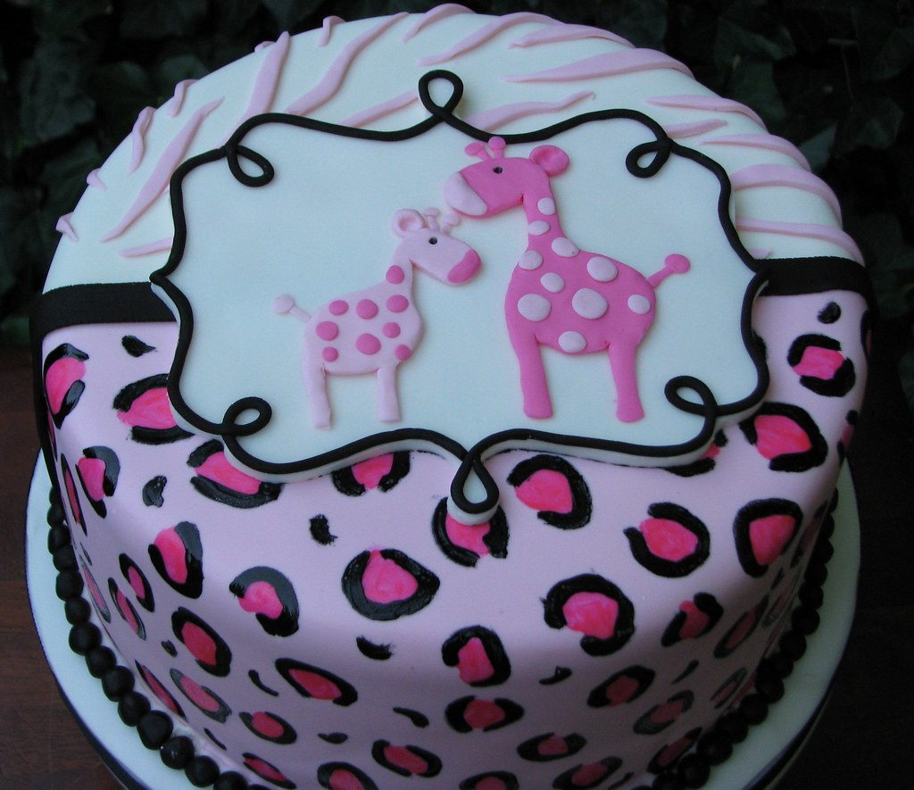 Zebra And Leopard Baby Shower Cake Sugarushbakery Flickr