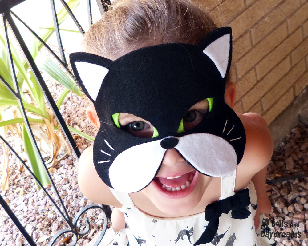 Cat Mask pattern cute felt play dress up halloween costume… | Flickr