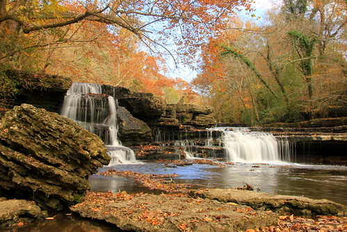 Manchester, Tennessee, Old Stone Fort - waterfalls-003