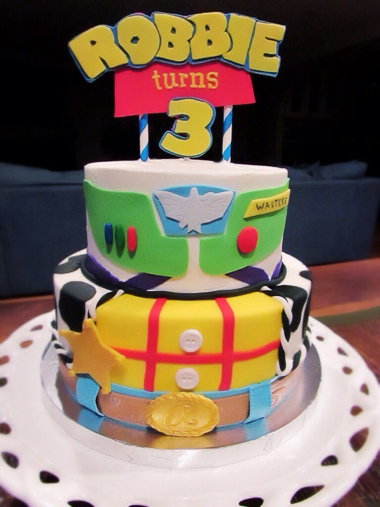 Toy Story Birthday Cake Toy Story Cake Covered In Buttercr Flickr