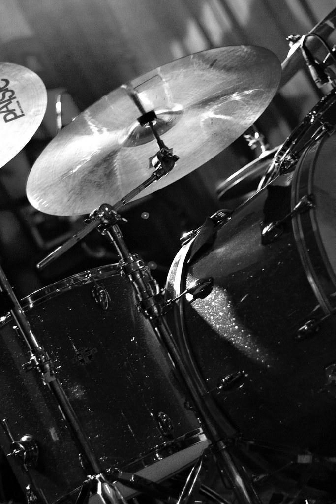 Drum Set On Stage Black And White Alo Live In Denver Blu Flickr