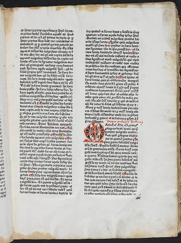 Nicolaus de Lyra: Postilla super quattuor Evangelistas - Decorated initial