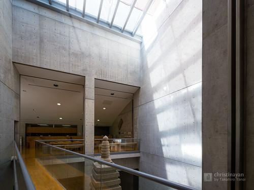 Stairwell of Osaka Pref. Chikatsu-Asuka Museum (大阪府立近つ飛鳥博物館)