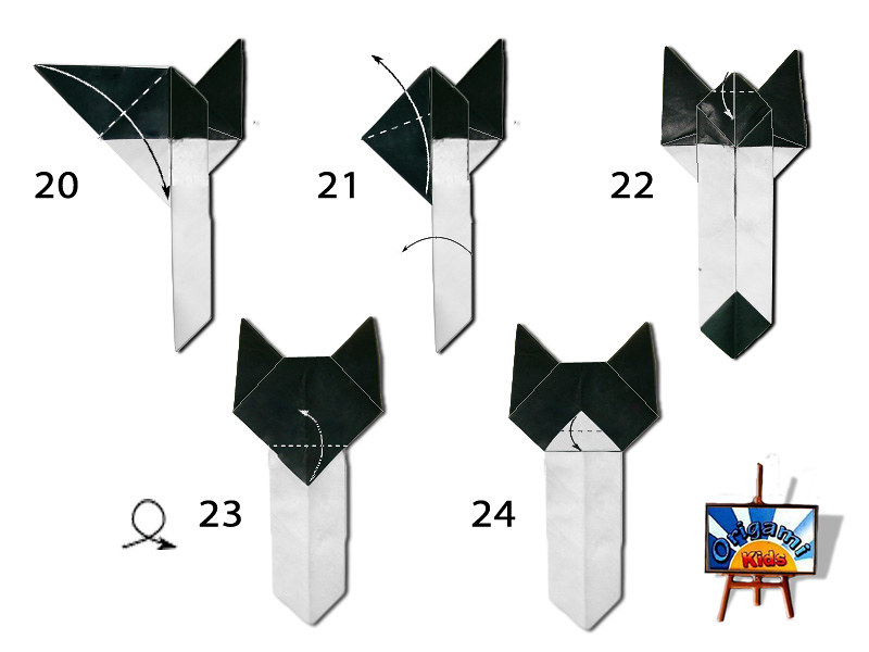 Easy Cat Bookmark By Origami Kids
