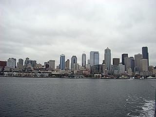 010 Seattle vanaf de boot naar bainbridge island