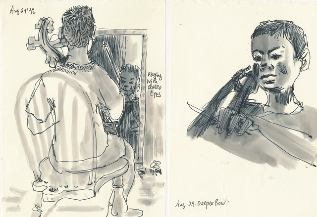 Sketchbook #100: Everyday Life - Cello