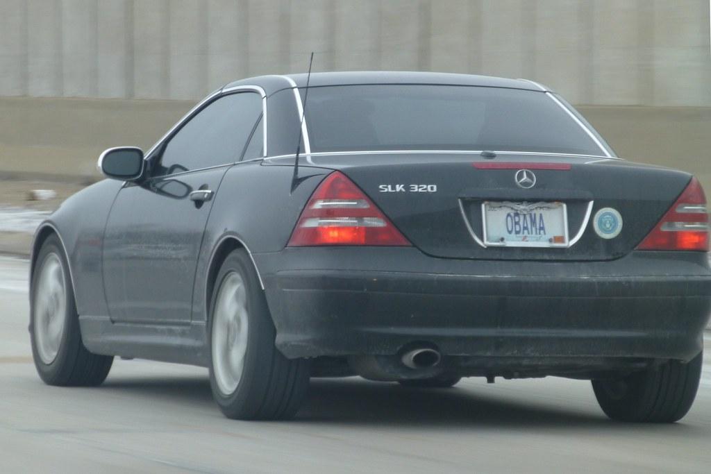 obama missouri personalized license plate on black mercede…   flickr