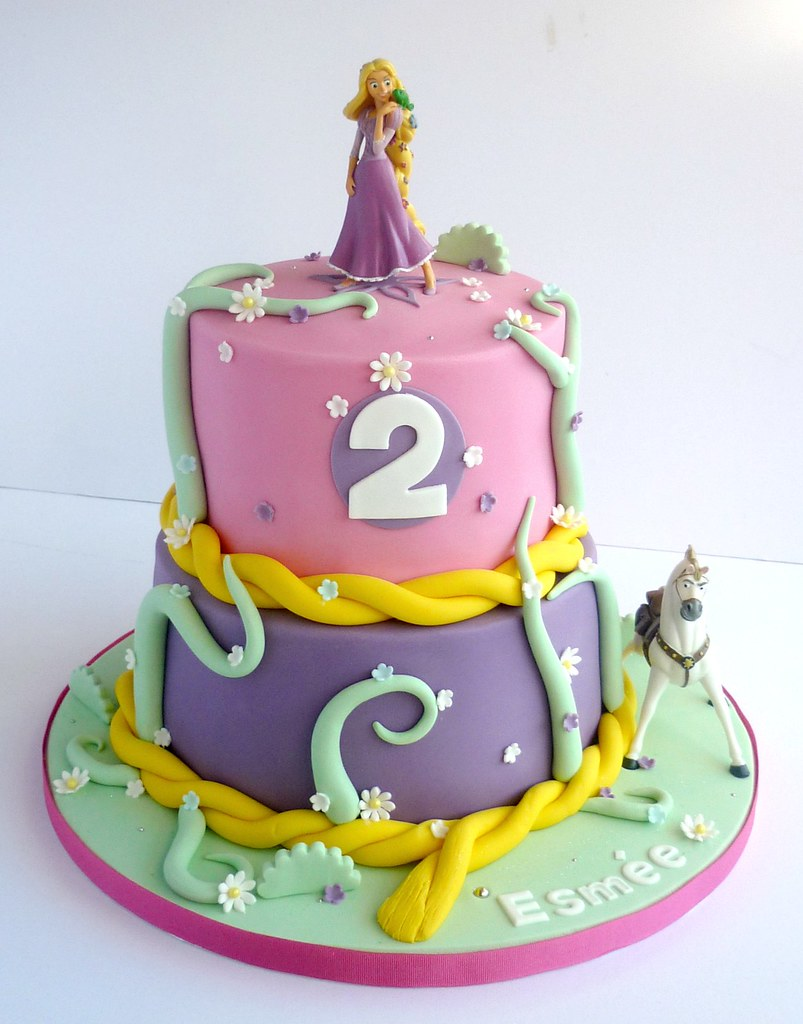 TangledRapunzel birthday cake SwirlsBakery Flickr