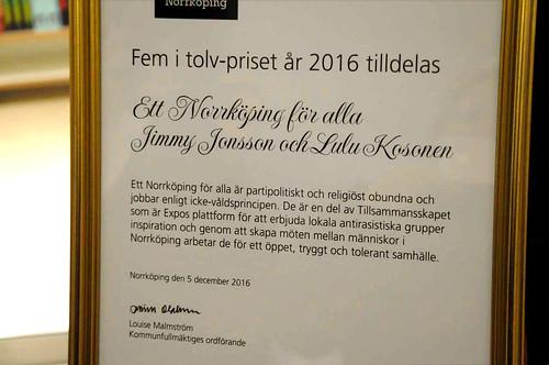 5i12-priset till Ett Norrköping för alla