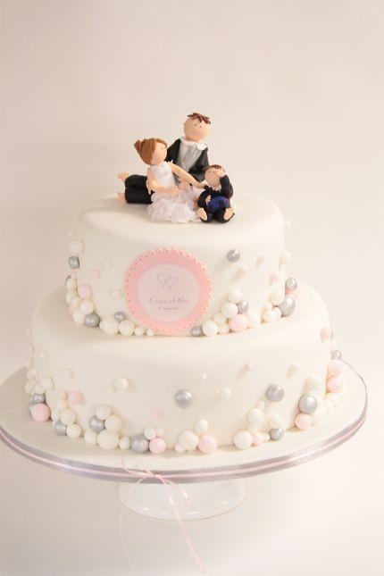 V Hochzeitstorte Mit Perlen Rosa Weiss Silber Hochzeitstort Flickr
