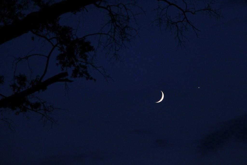 Moon and Venus Conjunction - September 8, 2013 | Close encou