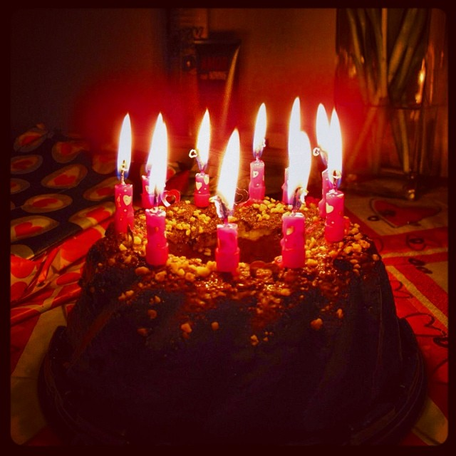 Birthdaycake Candles Flame Chocolate Cake People Fun Fire