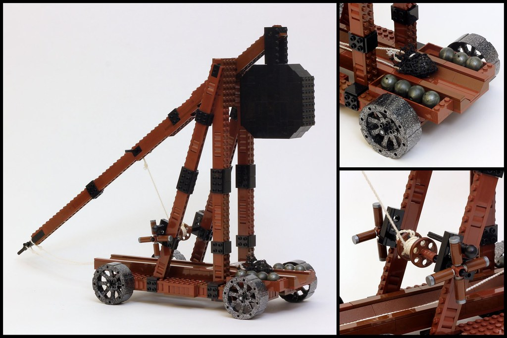 Trebuchet Smite Your Enemies With My Latest Lego Model T Flickr