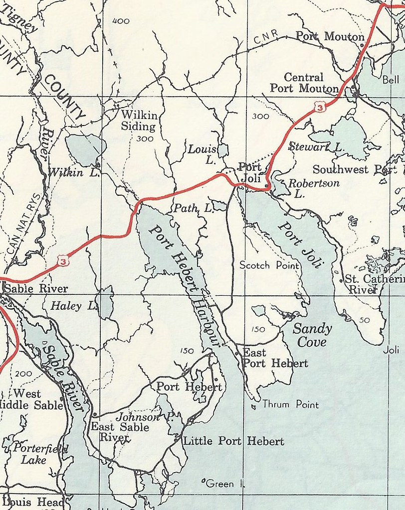 Part of the Queens County Map in Nova Scotia showing where ... Queens County Map on