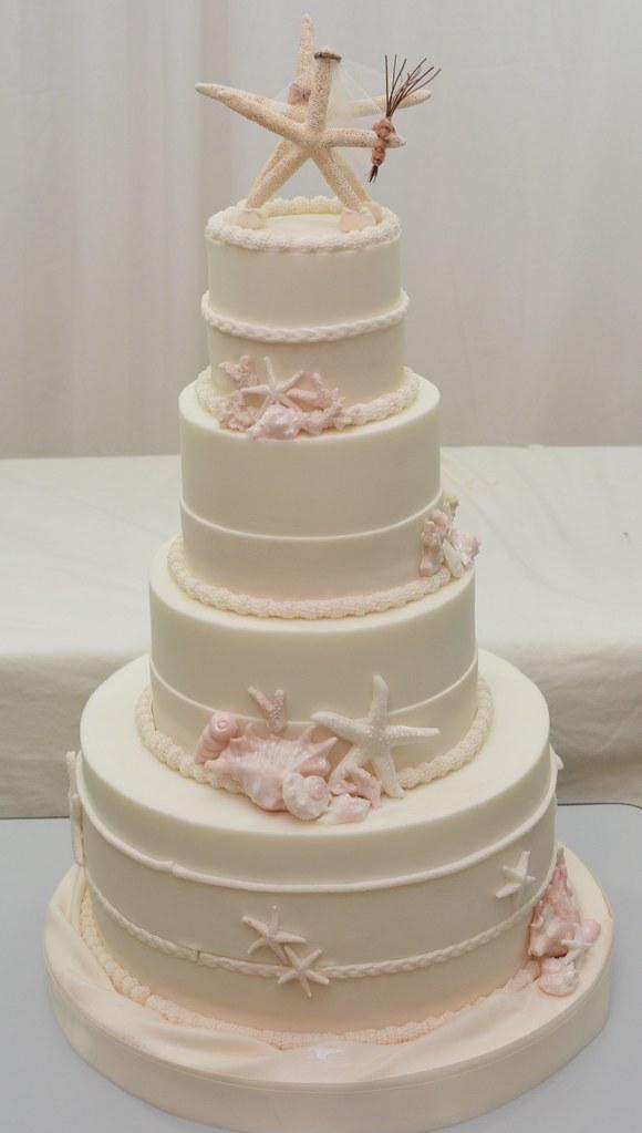 Beach Themed Wedding Cake | Lori-Ann Foley | Flickr