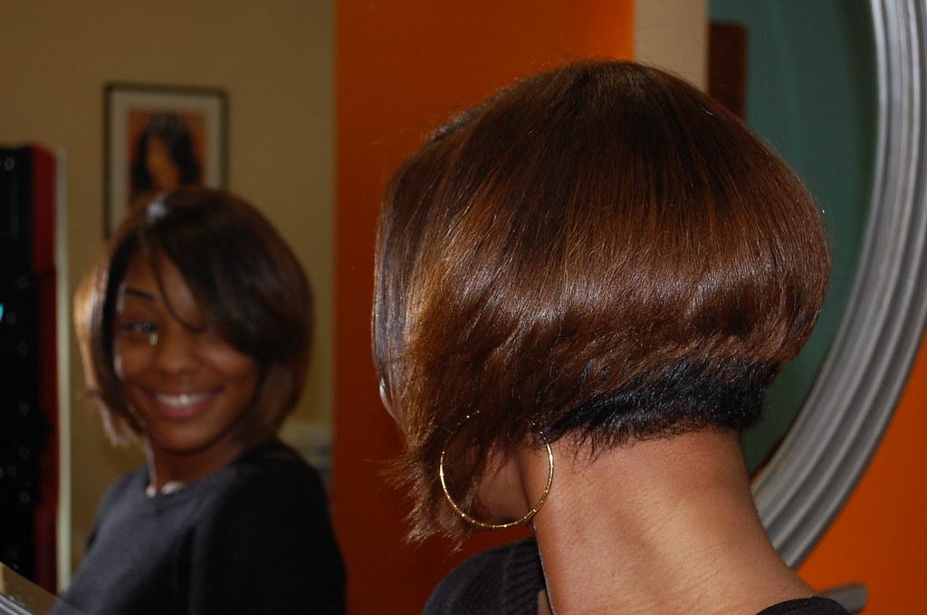 Short Hair Style For Black Women Salon Woodbridge Va Natu Flickr