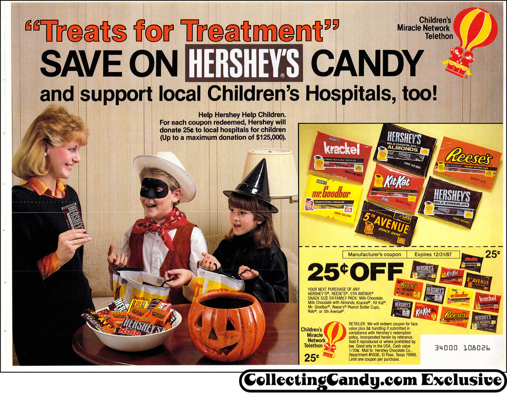 hershey halloween candy newspaper circular coupon 1987 flickr