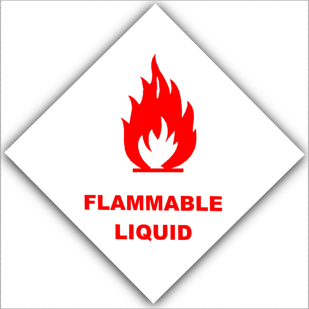 Flammable Liquid Red On White Platinum Place Flickr