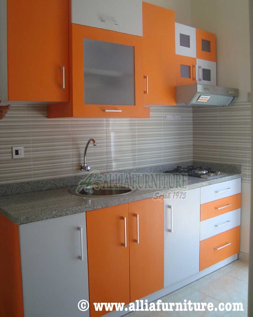 Kitchen Set Minimalis Desain Pola Perpaduan 2 Warna Orange Flickr
