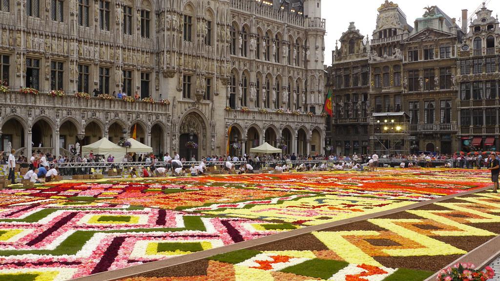Bruxelles Grand Place Tapis De Fleur 2012 Emmanuel Parent