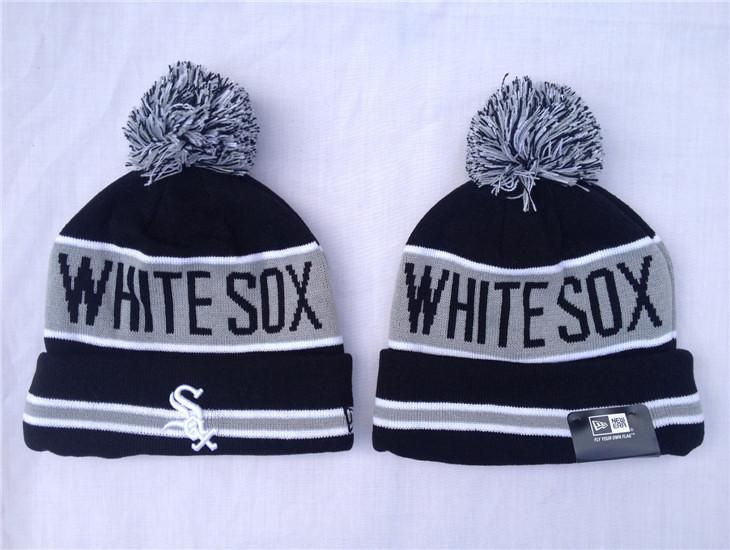 2e2709e2b5e Chicago White Sox Pom Beanies MLB Knit Caps New Era Hats THE COACH