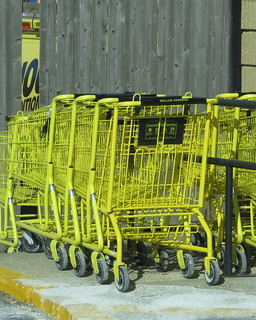 yellow shopping carts belong to the dollar general stores flickr. Black Bedroom Furniture Sets. Home Design Ideas