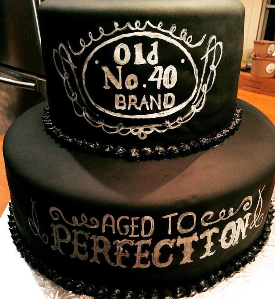 Double Chocolate Cake With Fondant A Fun Birthday For Special Guy Turning 40
