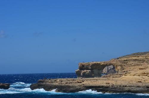 Blick zum Blauen Fenster über die Bucht des Turmes