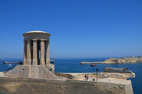 Denkmal zur Erinnerung an die Belagerung Maltas im zweiten Weltkrieg