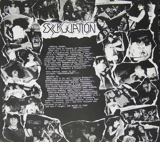 "EXCRUCIATION LAST JUDGEMENT + Lyrics sheet 12"" vinyl LP"