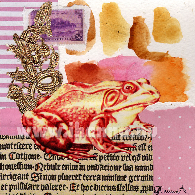 Frog Collage by iHanna: Hope and Glory - art by iHanna aka Hanna Andersson, Sweden