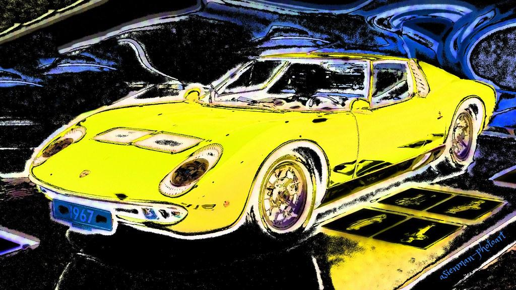 1971 PIRELLI TIRES Vintage Look METAL SIGN LAMBORGHINI P400 MIURA Sports Car