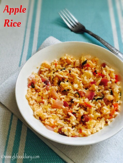 Apple Rice Recipe for Toddlers and Kids3
