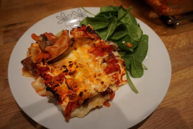 Vegetarisk lasagne alá vad som finns i kylskåpet -1