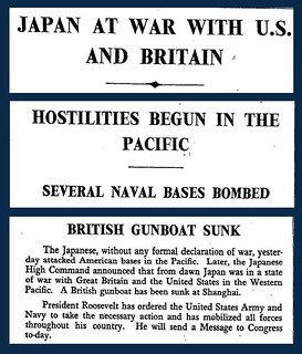 8th December 1941 - Britain & the USA declare war on Japan | by Bradford Timeline