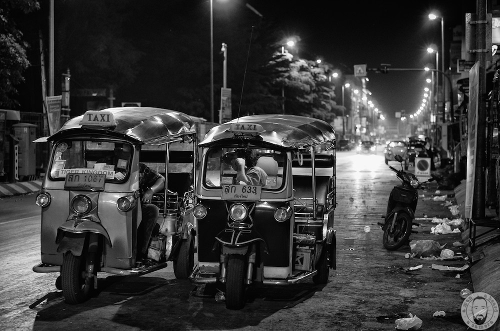 Street photography thailand young tuk tuk man beard
