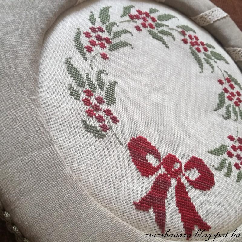 Isa Vautier, cross stitch, wreath, advent (2)