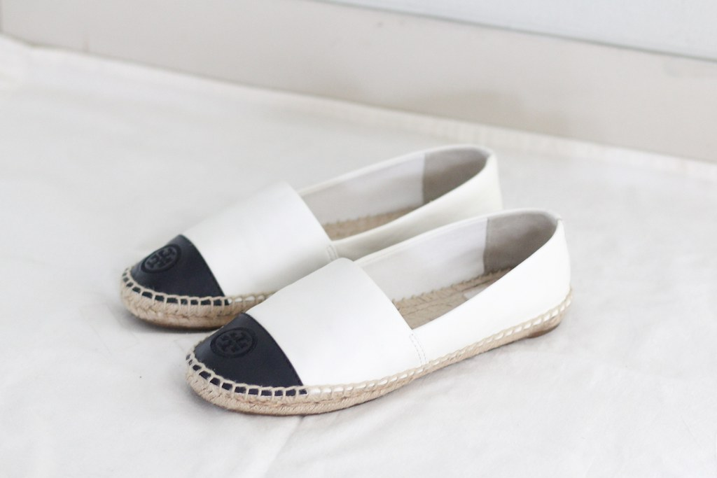 7167b1c22ad ... shoesfetishperson Tory Burch colorblock espadrilles ivory-black