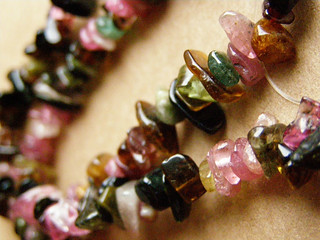 Watermelon tourmaline - chips | by Lady_Agata