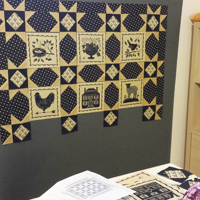 How did I ever live without a design board? #showmethemoda #primitivequilts #primitive #modafabrics