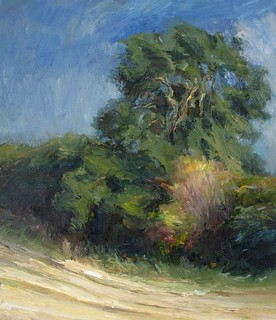 PA718 Hedgerow in Autumn. Oil on canvas 36 x 31 cm Neil Bolton Fine Art Painter | by neil bolton artist