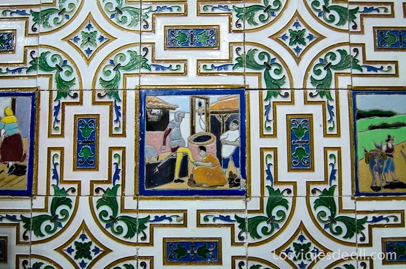 Alcázar de San Juan azulejos estación tren