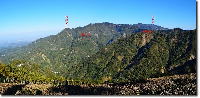 金獅山北眺獨立山、大尖山稜線 3-1