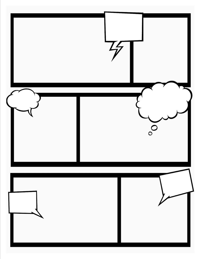 Comic Book Template | Stretch your creativity and create you… | Flickr