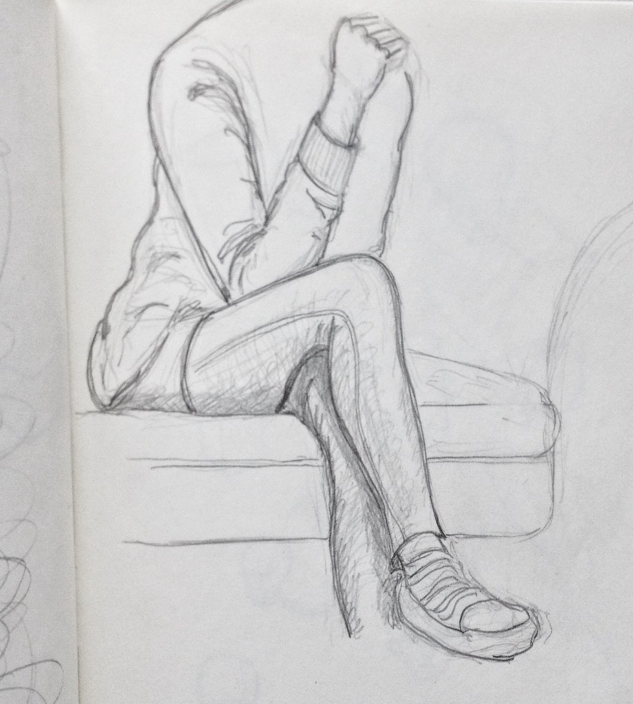 Female - sitting pose, crossed legs | Pencil sketch of my lo… | Flickr