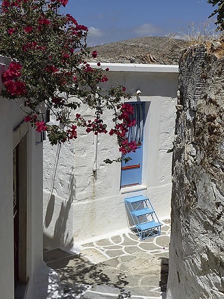 petit escalier bleu