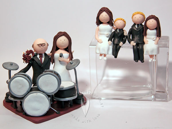 Familien Brautpaar Mit Schlagzeug Tortenfiguren Flickr
