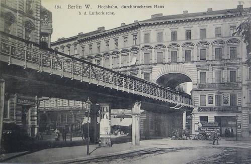 berlin sch neberg hochbahn an der lutherkirche um 1900 flickr. Black Bedroom Furniture Sets. Home Design Ideas