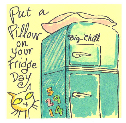 put a pillow on your fridge day post it note sharpie pen flickr